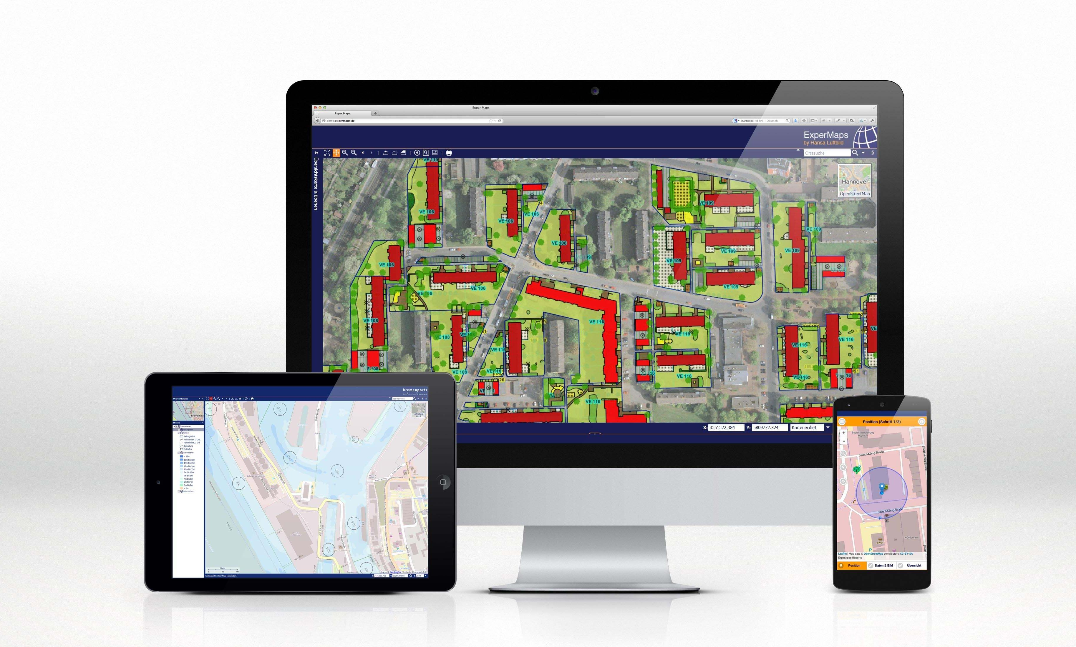 ExperMaps - the flexible Online GIS by Hansa Luftbild